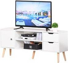 HOMCOM Mueble de TV Mesa de Salón Moderno