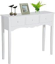 HOMCOM Mueble Mesa Recibidor Tipo Consola de
