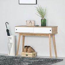 HOMCOM Mueble Recibidor Mesa de Consola con Doble