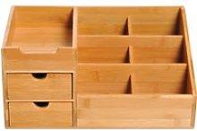 HomCom® Organizador de Escritorio de Bambú
