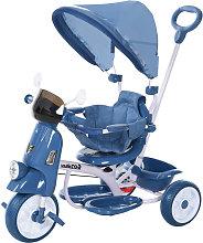 HOMCOM Triciclo Infantil con Toldo Barrera