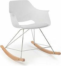 Home Design - SILLÓN MECEDORA KEITH BLANCO ANCHO: