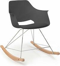 Home Design - SILLÓN MECEDORA KEITH GRIS ANCHO: