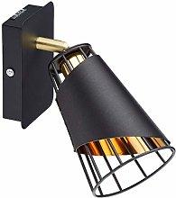 Homemania - Foco de Metal, Color Negro, Dorado