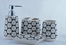 Homevibes Accesorios De Baño De Ceramica