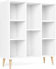 Homfa Librería Estantería Blanca Mueble Auxiliar
