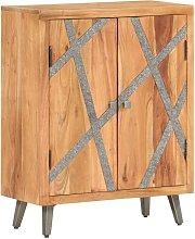 Hommoo Aparador de madera maciza de acacia