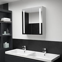Hommoo Armario de cuarto de baño con espejo y LED