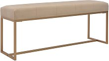 Hommoo Banco 120 cm terciopelo beige