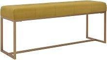 Hommoo Banco 120 cm terciopelo mostaza
