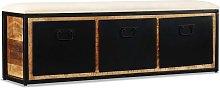 Hommoo Banco de almacenamiento 3 cajones madera de