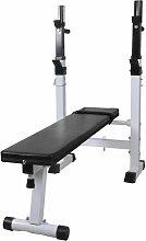 Hommoo Banco de ejercicios y musculación recto