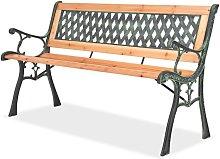 Hommoo Banco de jardín 122 cm de madera