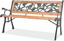 Hommoo Banco de jardín 122 cm madera