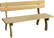 Hommoo Banco de jardín de madera de pino