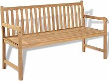 Hommoo Banco de jardín de madera de teca 150 cm