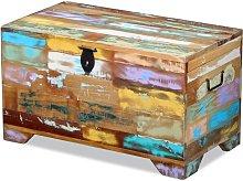 Hommoo Baúl de almacenamiento de madera maciza