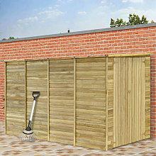 Hommoo Cobertizo para jardín de madera pino