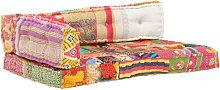 Hommoo Cojín para sofá de palés tela multicolor