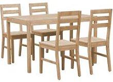 Hommoo Conjunto de comedor de madera maciza de