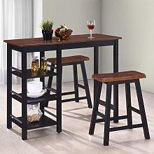 Hommoo Conjunto de mesa alta de cocina 3 piezas