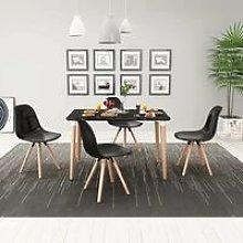 Hommoo Conjunto de mesa de comedor y sillas 5