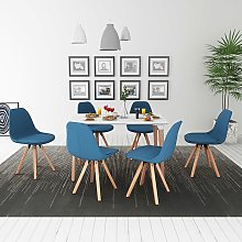 Hommoo Conjunto de mesa de comedor y sillas 7 uds