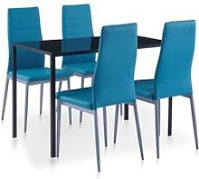 Hommoo Conjunto de mesa y sillas de comedor 5