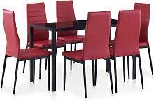 Hommoo Conjunto de mesa y sillas de comedor 7