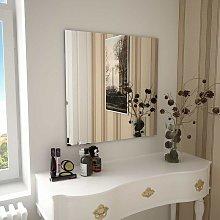 Hommoo Espejo de pared cuadrado vidrio 70x70 cm
