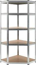 Hommoo Estantería de acero y MDF 75x75x180 cm
