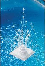 Hommoo Fuente griega de piscina 13 piezas blanca