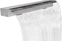 Hommoo - Fuente rectangular de acero inoxidable