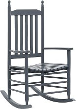 Hommoo Mecedora con asiento curvo madera gris