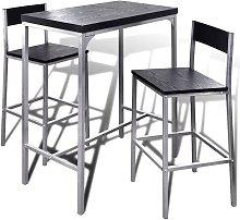 Hommoo Mesa alta y taburetes de barra de cocina