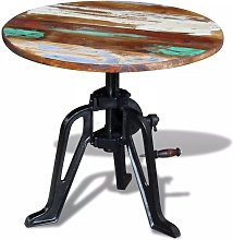 Hommoo Mesita auxiliar madera reciclada y hierro