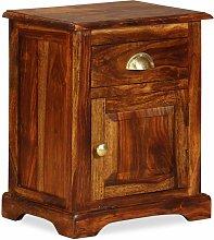 Hommoo Mesita de noche 40x30x50 cm madera maciza