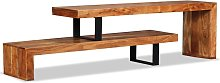 Hommoo Mueble para la televisión de madera maciza