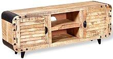 Hommoo Mueble para la TV de madera de mango rugosa