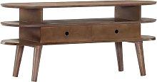 Hommoo Mueble para TV de madera maciza de acacia