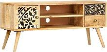 Hommoo Mueble para TV madera maciza de mango