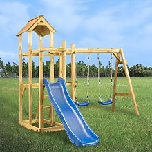 Hommoo Parque infantil tobogán, columpios y