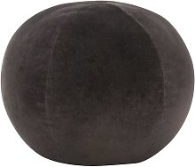 Hommoo Puf de terciopelo de algodón gris