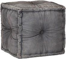 Hommoo Puf gris antracita 40x40x40 cm lona de