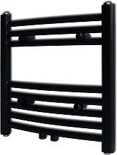 Hommoo Radiador toallero de baño curvo negro 480