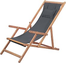 Hommoo Silla de playa plegable de tela y