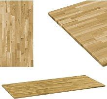 Hommoo Tablero de mesa rectangular madera maciza