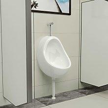 Hommoo Urinario de pared con válvula de descarga