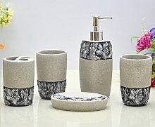 HONGS Juego de accesorios de baño con grabado