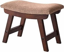 hsj LF- Taburete de sofá de madera maciza,